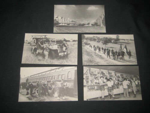 1950 National Jamboree, 5 different Jamboree Postcards c27
