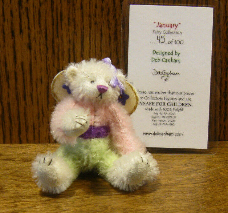 DEB CANHAM Artist Designs JANUARY FAIRY, Fairy COLL LE 3.75  jointed mohair