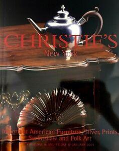 Christie S Amer Furniture Silver Prints Scrimshaw Folk Art 2003 Auction Catalog Ebay