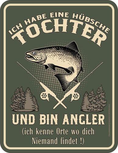 Pêche-Fille-Tôle Bouclier Bouclier Sort 17x22 cm
