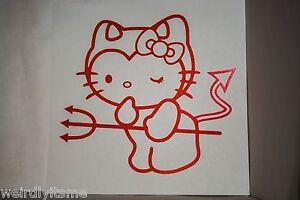 Hello Kitty Bow Tie Cute Car Windshield Decal Laptop Office Vinyl Decor