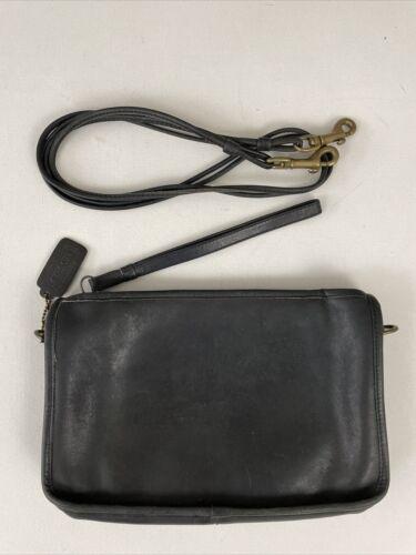 COACH Vintage '70's Black Leather Convertible Shou