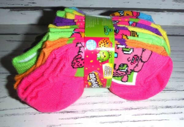 edf7c427b0a New Shopkins 10 Pair Girls No-Show Socks Girls Shoe Size 4 - 7 1 2
