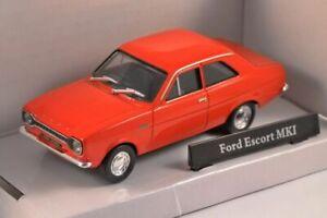 Ford-Escort-Mk1-rojo-modelo-de-coche-escala-1-43-Cararama