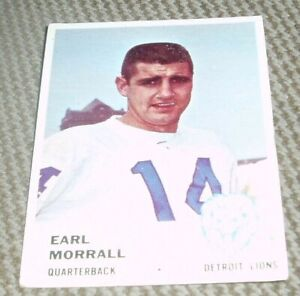 1961-Fleer-Football-Card-78-Earl-Morrall-Detroit-Lions
