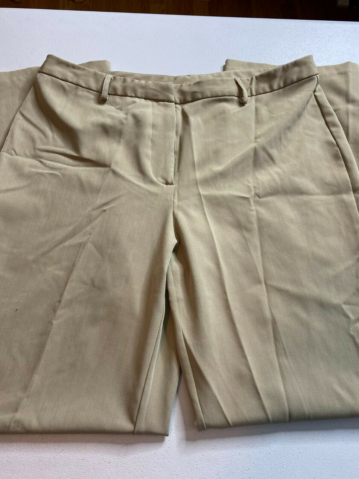 Jaclyn Smith Size 14 Brown Pants Comfortable Professi Gem