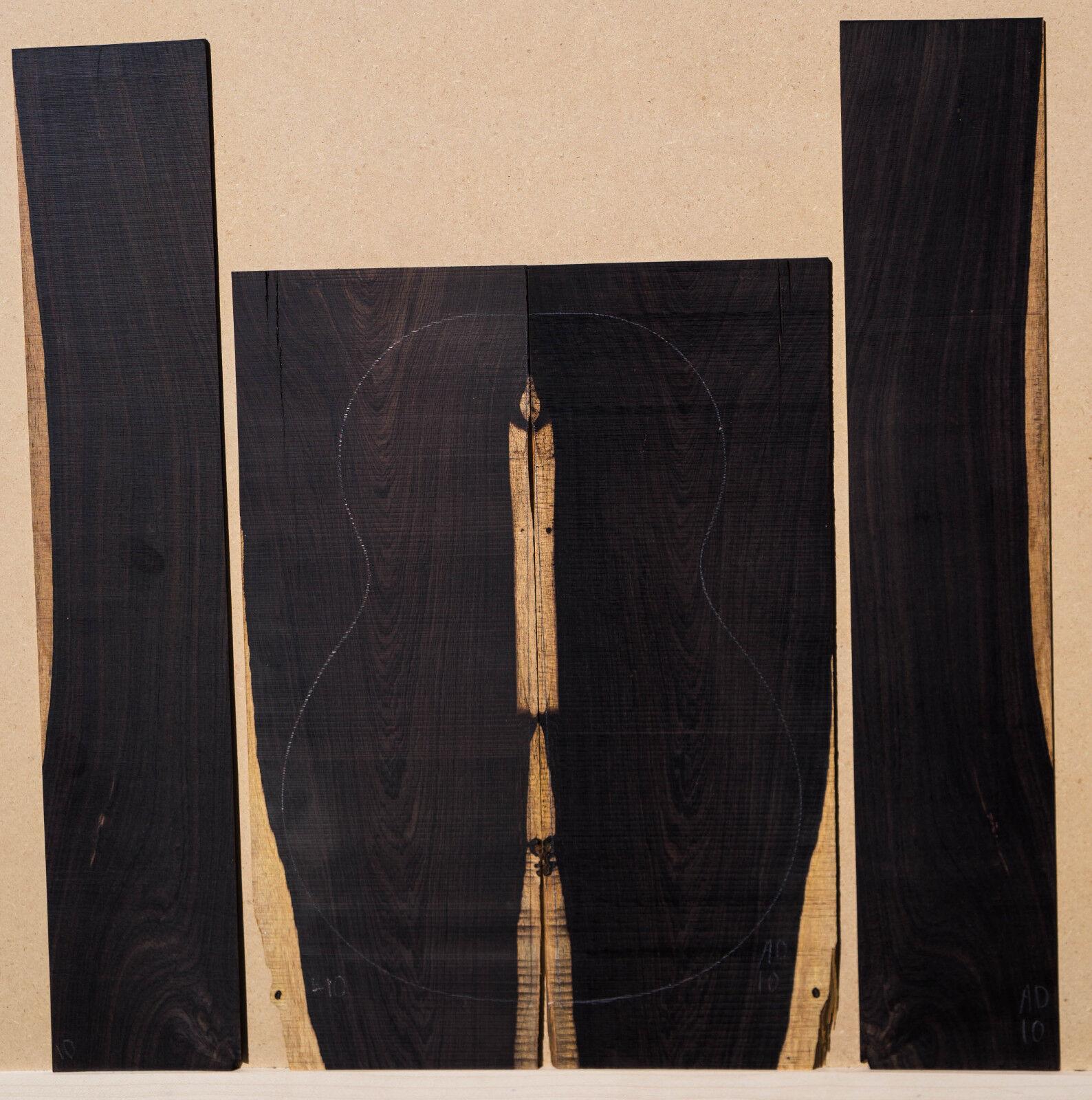 African schwarzwood Ukulele Set Bariton Größe Back and Sides Luthier Tonewood