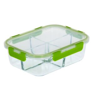 Details about Royalford Glass Food Storage Container Oven Microwave Freezer  Safe Lunch Box