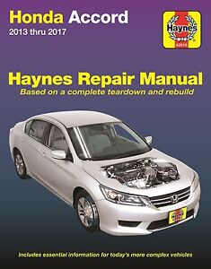 2013 2017 honda accord haynes repair service workshop manual rh ebay com 91 Honda Accord Repair Manual Lights honda accord 1999 repair manual pdf