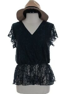 Nwt Banabee Navy Lace 1x 2x 3x Womens Top Very Pretty Evening