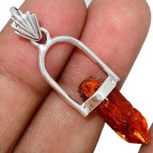 Orange-Kyanite-Point-925-Sterling-Silver-Pendant-Jewelry-AP121480