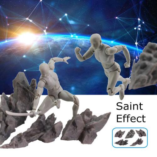 5PCS//SET Tamashii Effect Impact Grey Fix Saint Seiya Dragonball Soul Figure