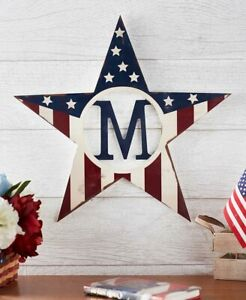 Patriotic-Monogram-Star-Wall-Hanging-Sign-Personalized-Decor-15-Letters-Initials