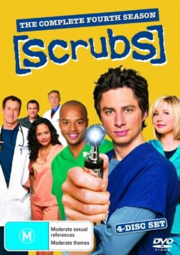 1 of 1 - Scrubs : Season 4 (DVD, 2006, 4-Disc Set) Region 4