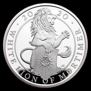 SKU#198719 w//Box /& COA 2020 GB Proof 1 oz Silver Queen/'s Beasts White Lion