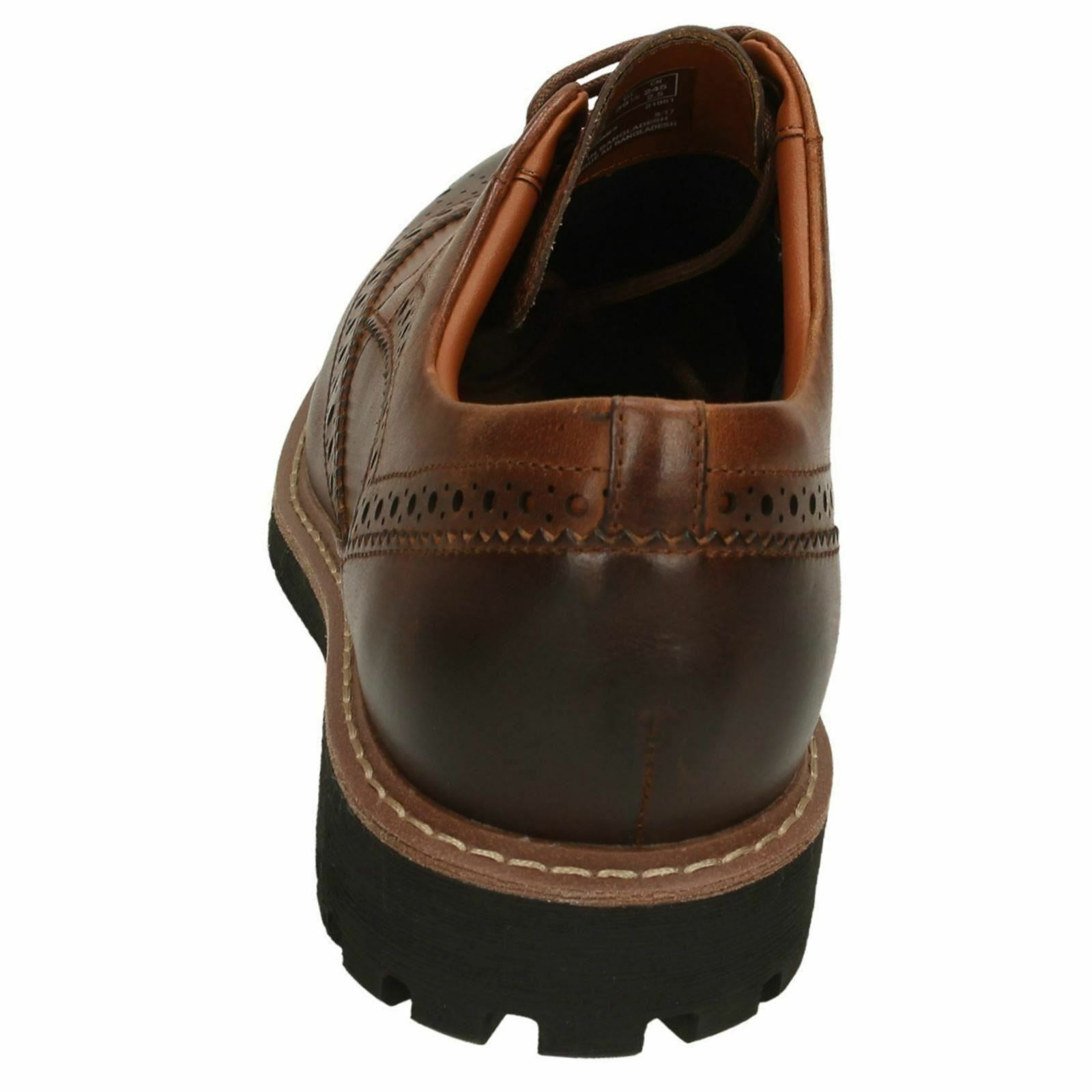 Herren Clarks Batcombe Casual Wing Leder Casual Batcombe Lace Up Brogue Schuhes 035475