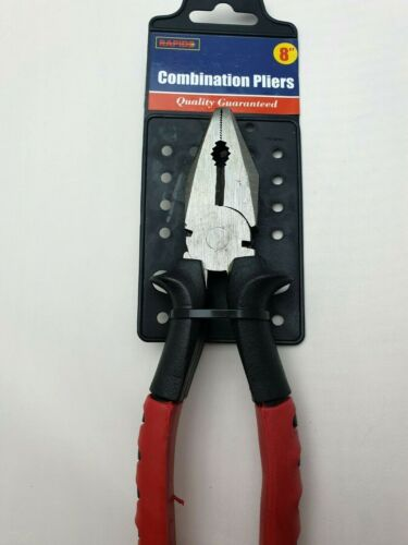 Combination Pliers 200mm  8inch Heavy Duty Forged Steel Hardened Trades Artisans