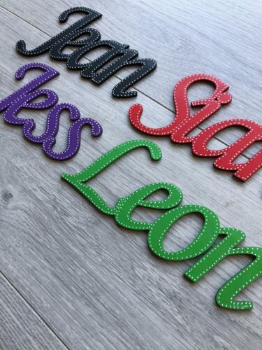 Personalised Wooden Door Plaque Wall Art Alphabet Letters Toy Box
