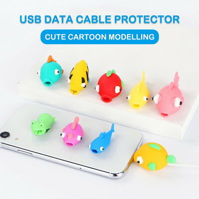 Cartoon Cable Bite Cute Fish Charger Cord Protector For