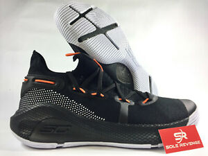 online store ae22d f1b54 Details about New Under Armour Curry 6 Stephen 20612003 Black/White/Red  Rage/Hero Orange c1
