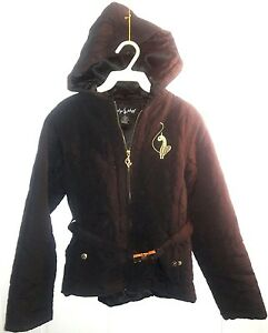 b745be5be Authentic Baby Phat Puffer Warm Girl s Coat Jacket Hood Black w ...