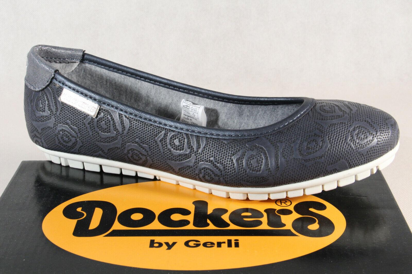 Dockers par Gerli Ballerine Mocassins chaussures Basses Femme Escarpins bleu
