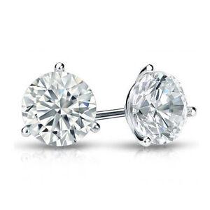 Brillant-Diamant-Ohrstecker-2-00-Karat-D-SI1-Diamanten-585-14K-Weissgold