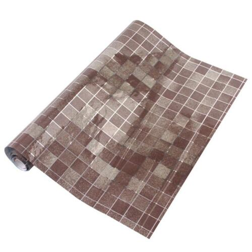 Portable Healthy Mosaic Aluminum Foil Self-adhensive Anti Oil Wall Paper Sticker