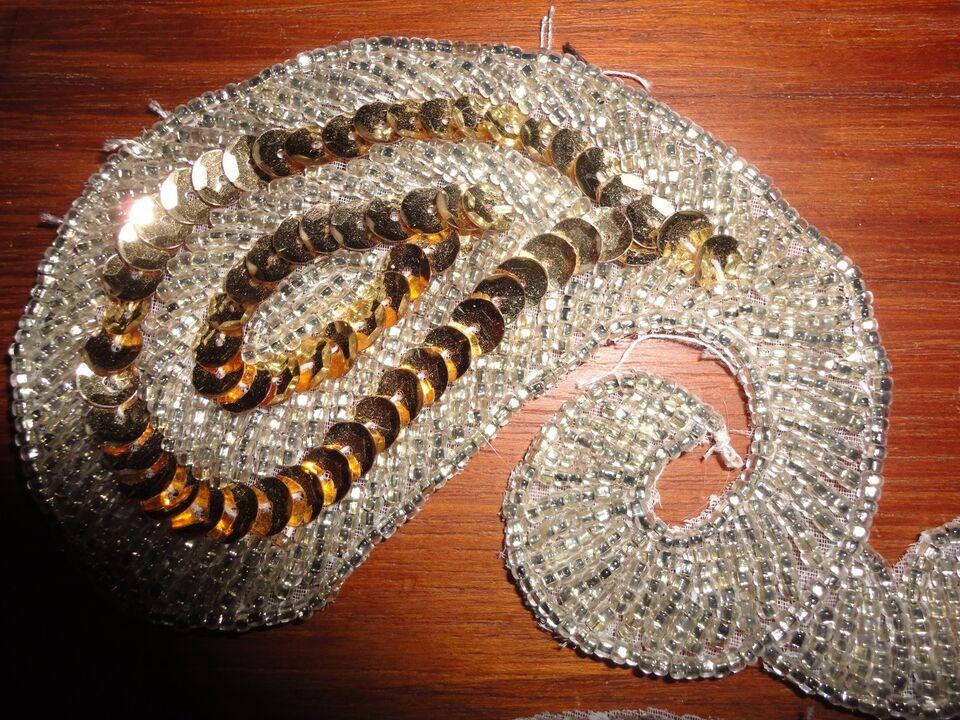 Perler, perle og paliette mærke til påsyning