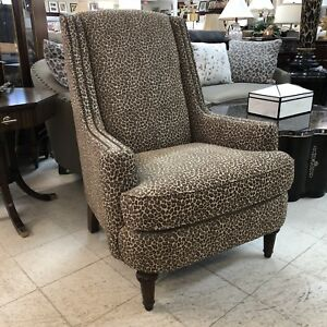Brilliant Details About Kincaid Upholstered Bella Accent Arm Chair Leopard Cheetah Animal Print 114 00 Gmtry Best Dining Table And Chair Ideas Images Gmtryco