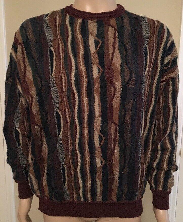 Vintage Pendleton Pure  Virgin Wool Coogi Style Sweater USA Made Talla Large  Web oficial
