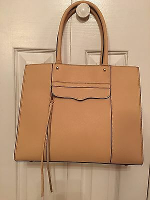 Rebecca Minkoff $265 Large MAB Tote Biscuit Saffiano Leather Purse Nordstrom