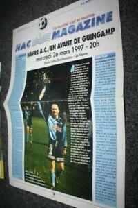 HAC-MAGAZINE-N-15-PROGRAMME-LE-HAVRE-V-EAG-GUINGAMP-saison-1996-97