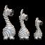 peint-Lot de 3 Vie Naturals Abstract Zebra carving 20//18//15 cm