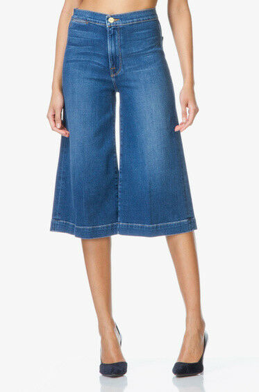 FRAME Le Culotte High Rise Cropped Wide Leg Jean in Sweetzer - Size 27