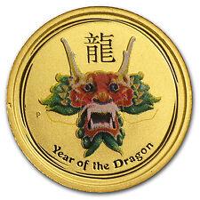 2012 1/20 oz Gold Australian Lunar Year of the Dragon Colorized Coin -SKU #71756
