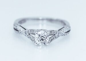 Details about TACORI BEST SELLING NEW $6500 2565RD 18K White Gold VVS2 EGL  USA Engagement Ring