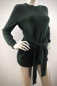 Antonio-Melani-139-Nwt-100-Cashmere-Tie-Waist-Green-Lesley-Sweater-XS-S-M-L