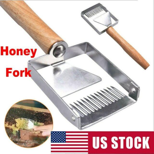 Stainless Steel Beehive Honeycomb Frame Grip with Scraper Beekeeping Tool