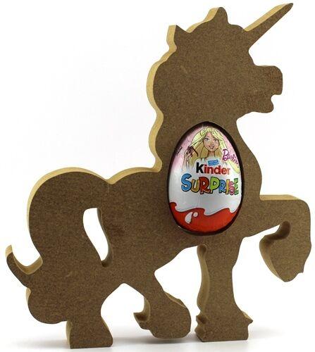 Easter Gift Blank craft Shape Unicorn Pack of 5 MDF Kinder Egg Holder