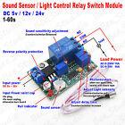 5V 12V 24V DC Sound Sensor / Light Control Relay Switch Module 1-60S Delay Board