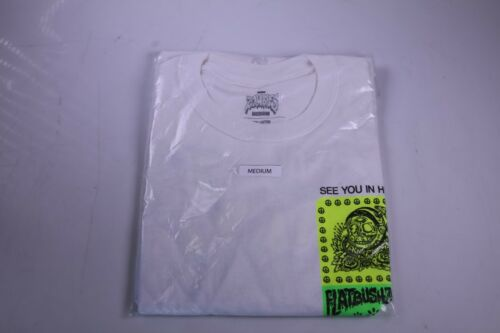 Flatbush Zombies See You in Hell Tour Shirt White Medium LA Pop Up Exclusive New