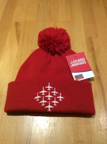 The Red Arrows   MOD  approved   Beanie Hat  with pom pom
