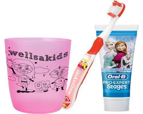 Zahnputz-Set Kinder Eiskönigin Becher Zahnbürste Oral-B Stages Frozen Zahncreme