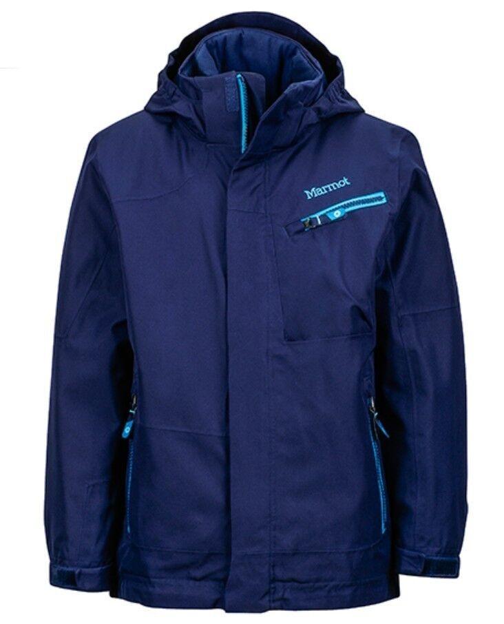 Marmot Boys Freerider Giacca,foderato giacca da sci per bambino,Arctic blu