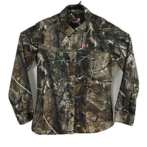 Under-Armour-Performance-Camo-Womens-Semi-Fitted-Shirt-Realtree-AP-Pink-Logo-XL