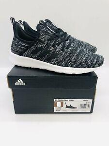 adidas Women's Cloudfoam Pure Lace Up Sneakers - Cloud Black- Pick Size