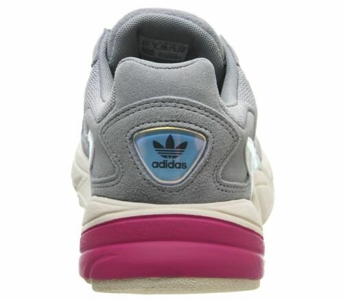 Womens Adidas Falcon Trainers Light Grey Real Magenta Iridescent Trainers Shoes