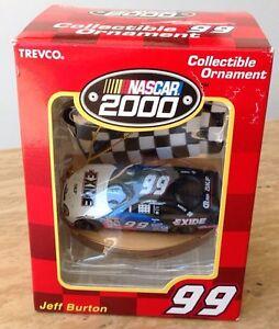 VINTAGE-NASCAR-99-JEFF-BURTON-2000-COLLECTIBLE-CHRISTMAS-ORNAMENT-TAURUS-NEW