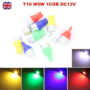 1X//2X T10 W5W 12V 1COB High Power LED License Plate Light Clearance Marker Lamp